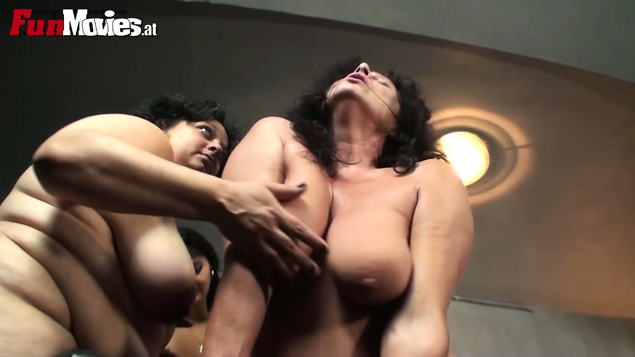 Porn Tube of Three Horny Mature Ladies Find It Hard To Resist A Young Guy With A Big Cock