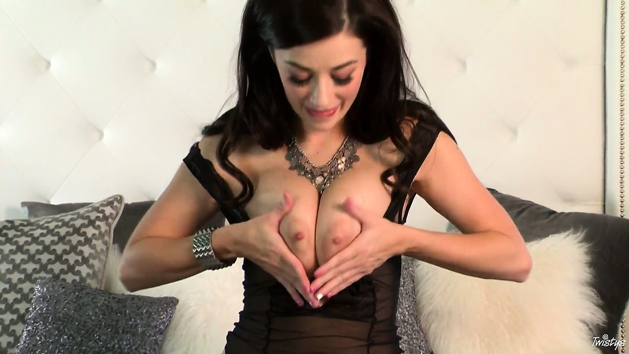 Sex Movie of Never Underestimate The Desire Of A Busty Brunette Vixen In Bed Alone