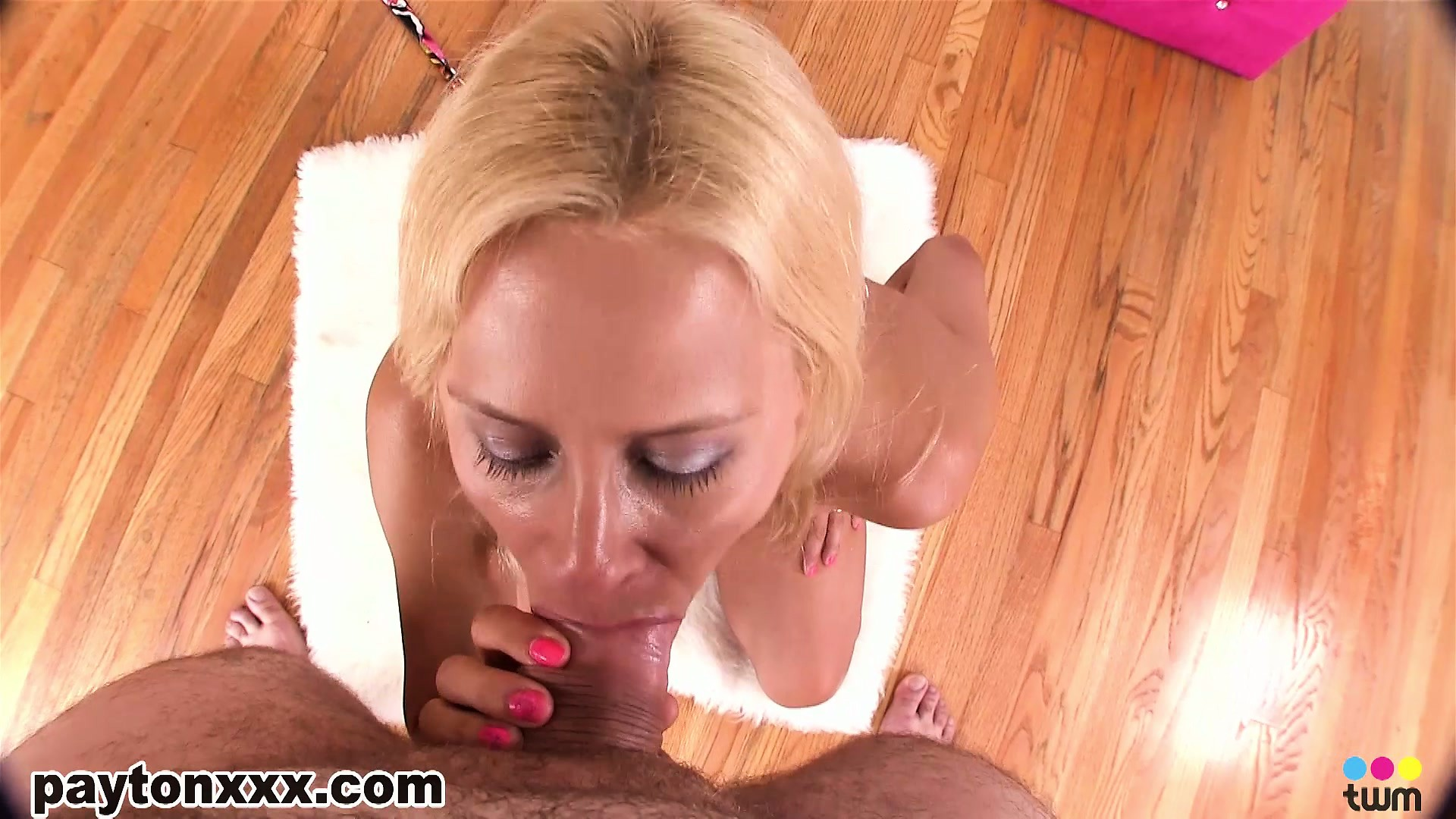 Sex Movie of On Her Knees, The Wild Blonde Milf Strokes And Sucks That Cock With Great Excitement