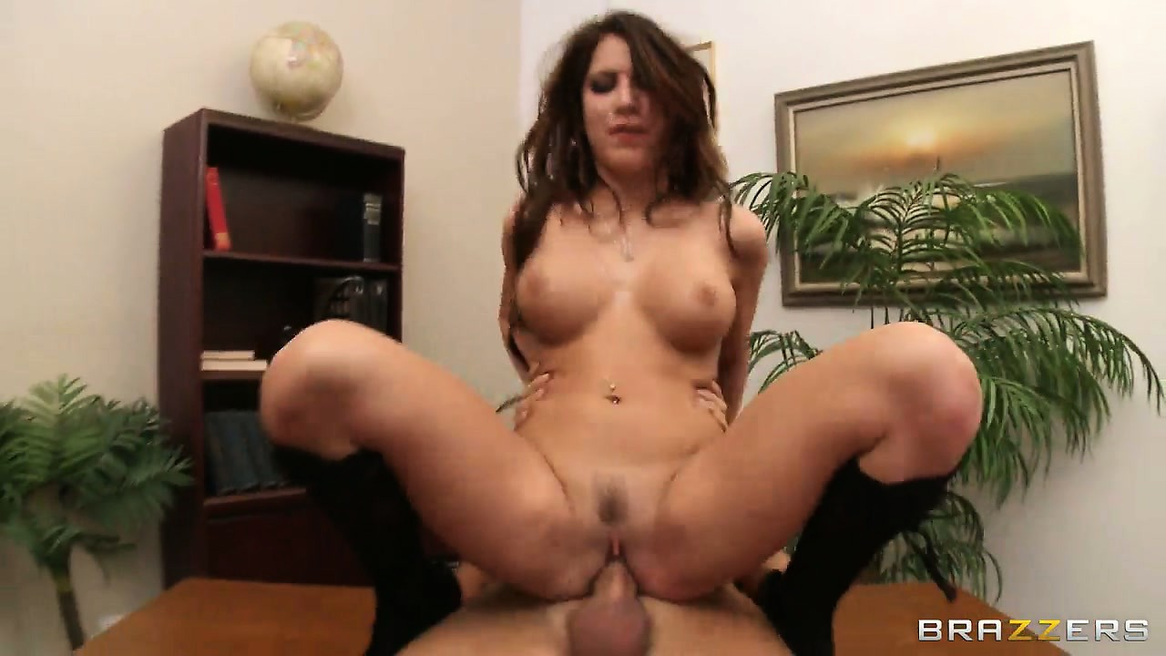 Porno Video of Slim Brunette Spreads Her Legs And Rides A Dick Facing The Camera