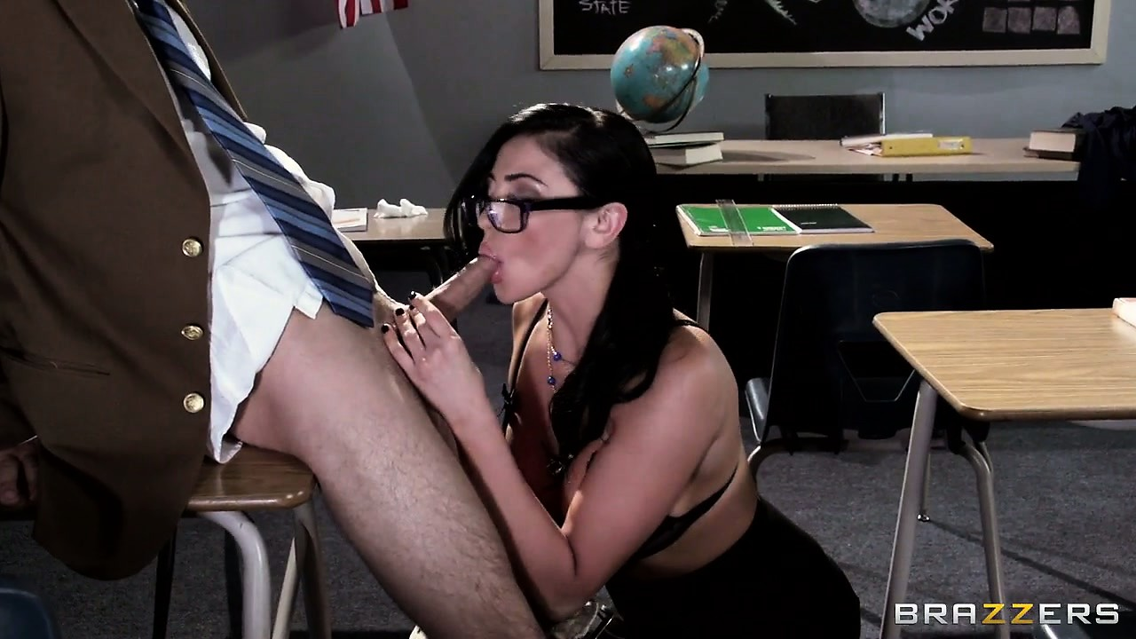Porn Tube of Wonderful Brunette With Huge Tits Needs To Teach This Student A Lesson