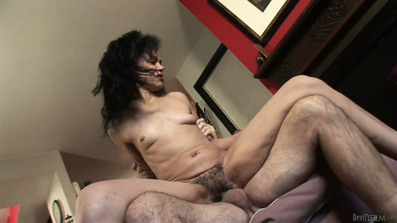 Porn Tube of Brunette Granny With Saggy Tits Is Getting Her Furry Bush Drilled