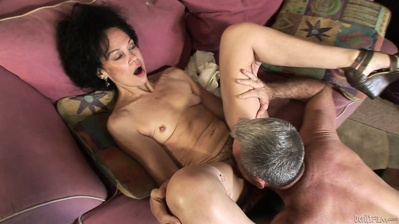 Porno Video of Brunette Granny Has Drinks Then Gets Her Furry Hair Pie Pounded