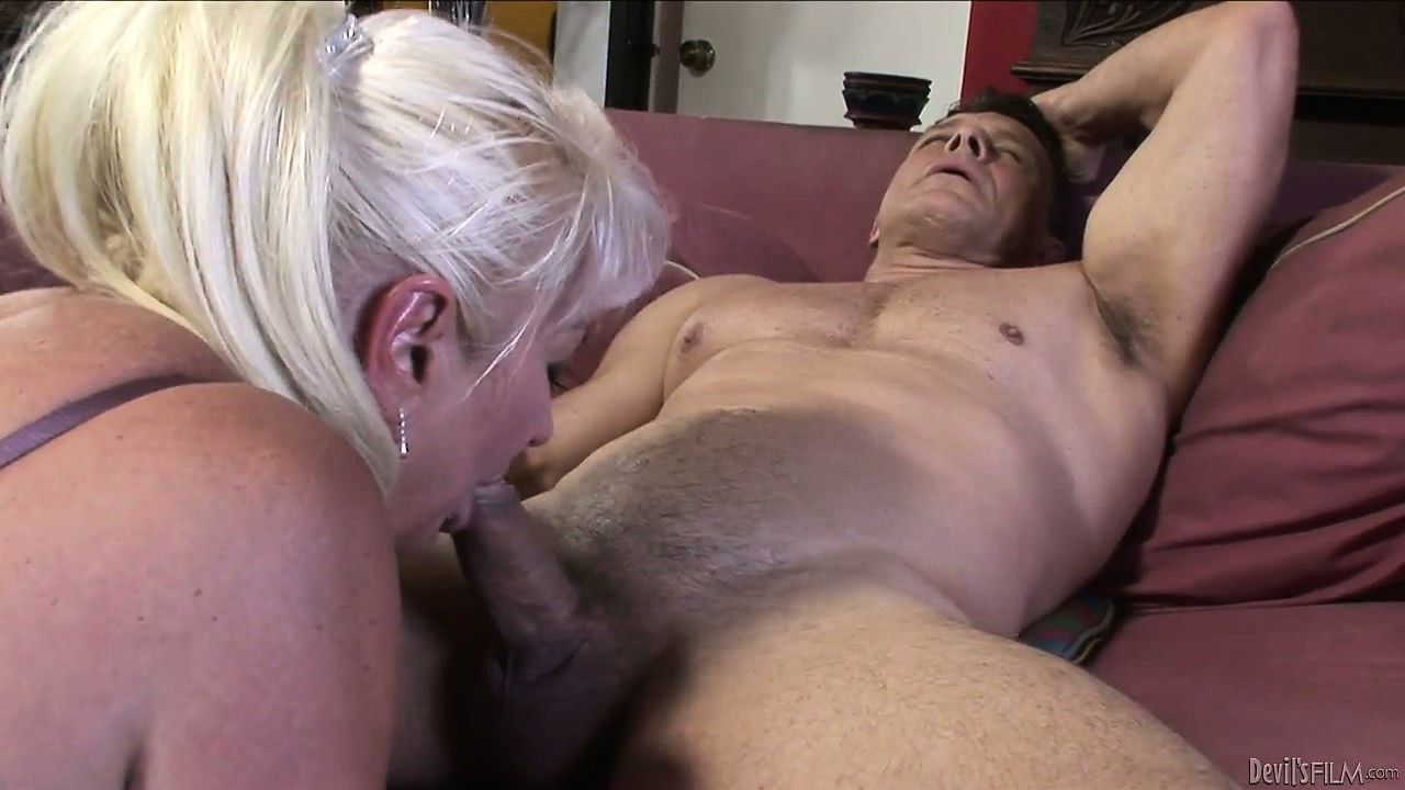 Porno Video of Nasty Chubby Granny, With White Hair, Has A Cock To Take Care Of
