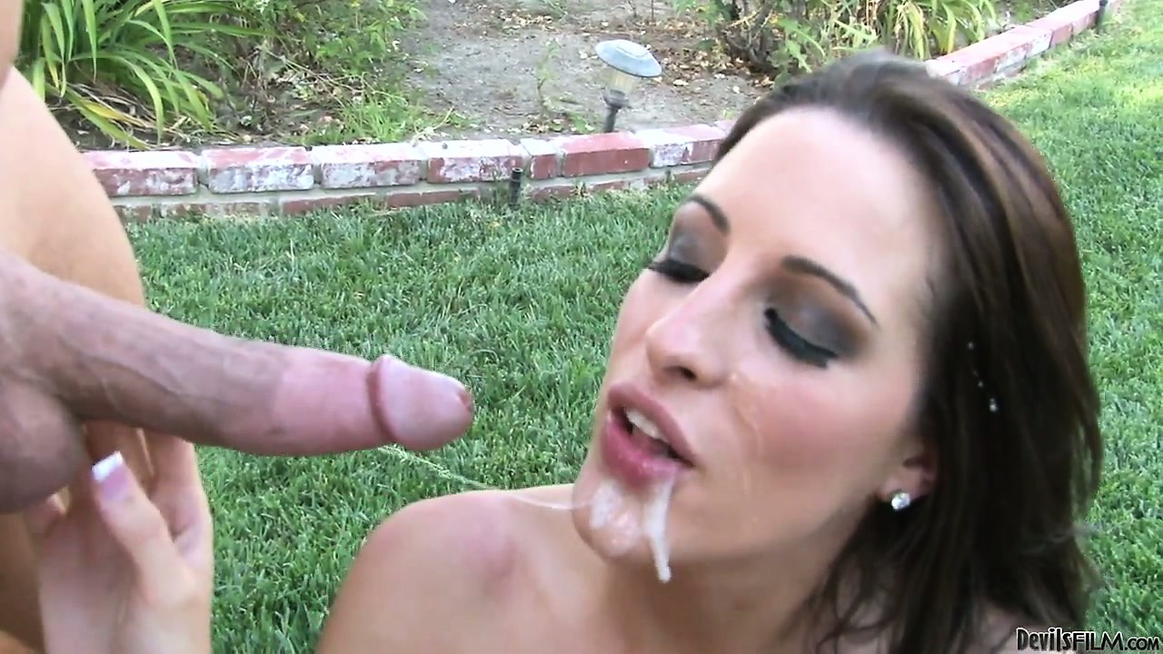 Porno Video of Long Haired Brunette Babe Kortney Kane Fucked In The Park And Eating Cum At The End