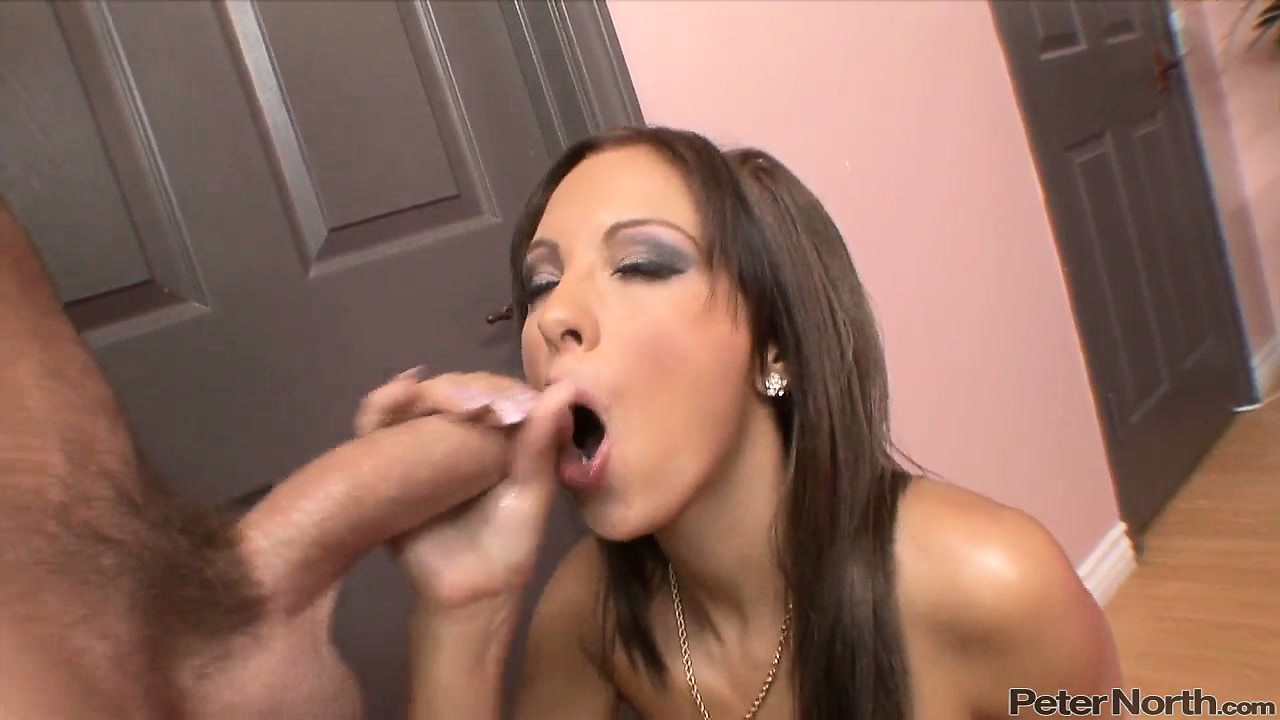 Porn Tube of Brunette With Long Hair Gives Some Sexy Looks While Licking A Cock