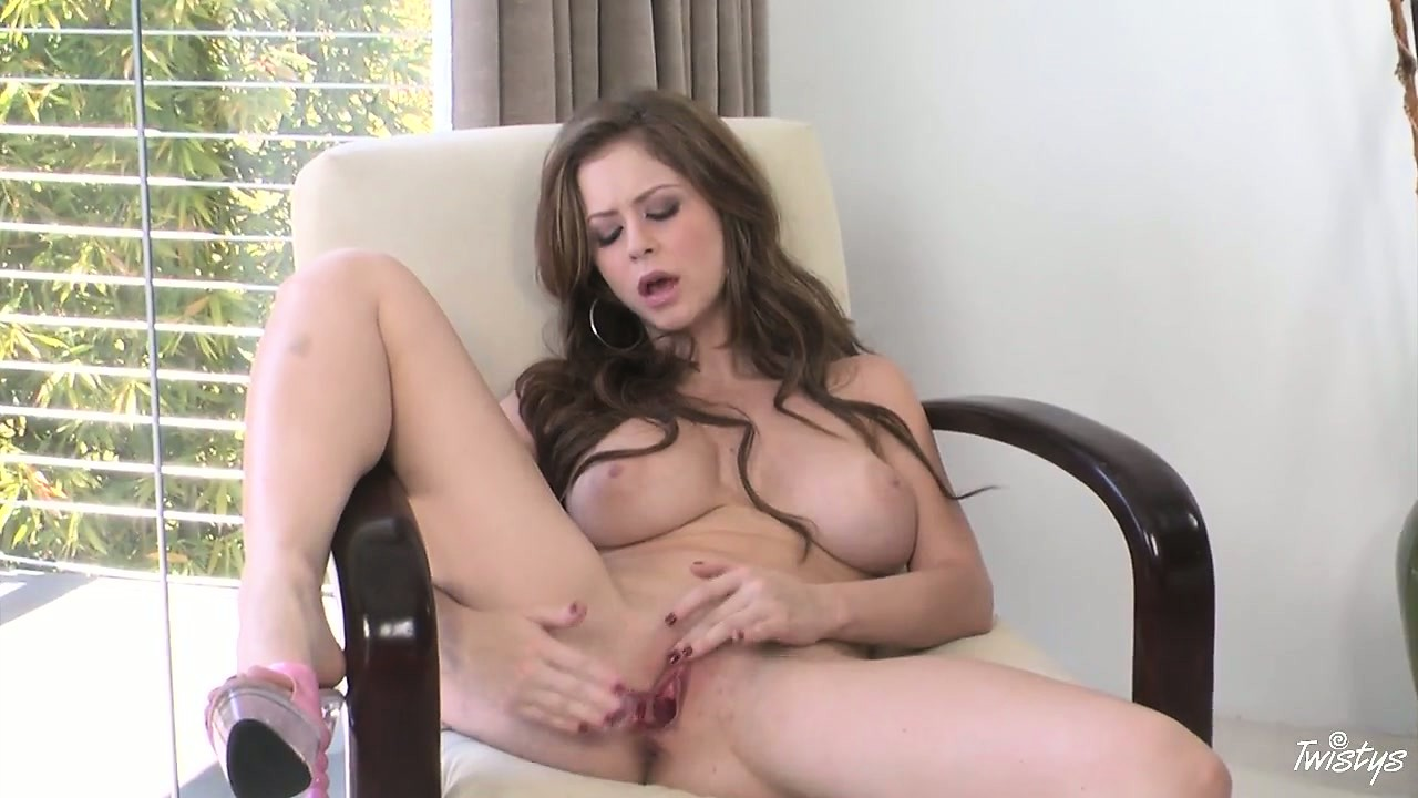 Porno Video of Busty Brunette Babe Puts A Smooth Glass Wand Into Her Tight Ass