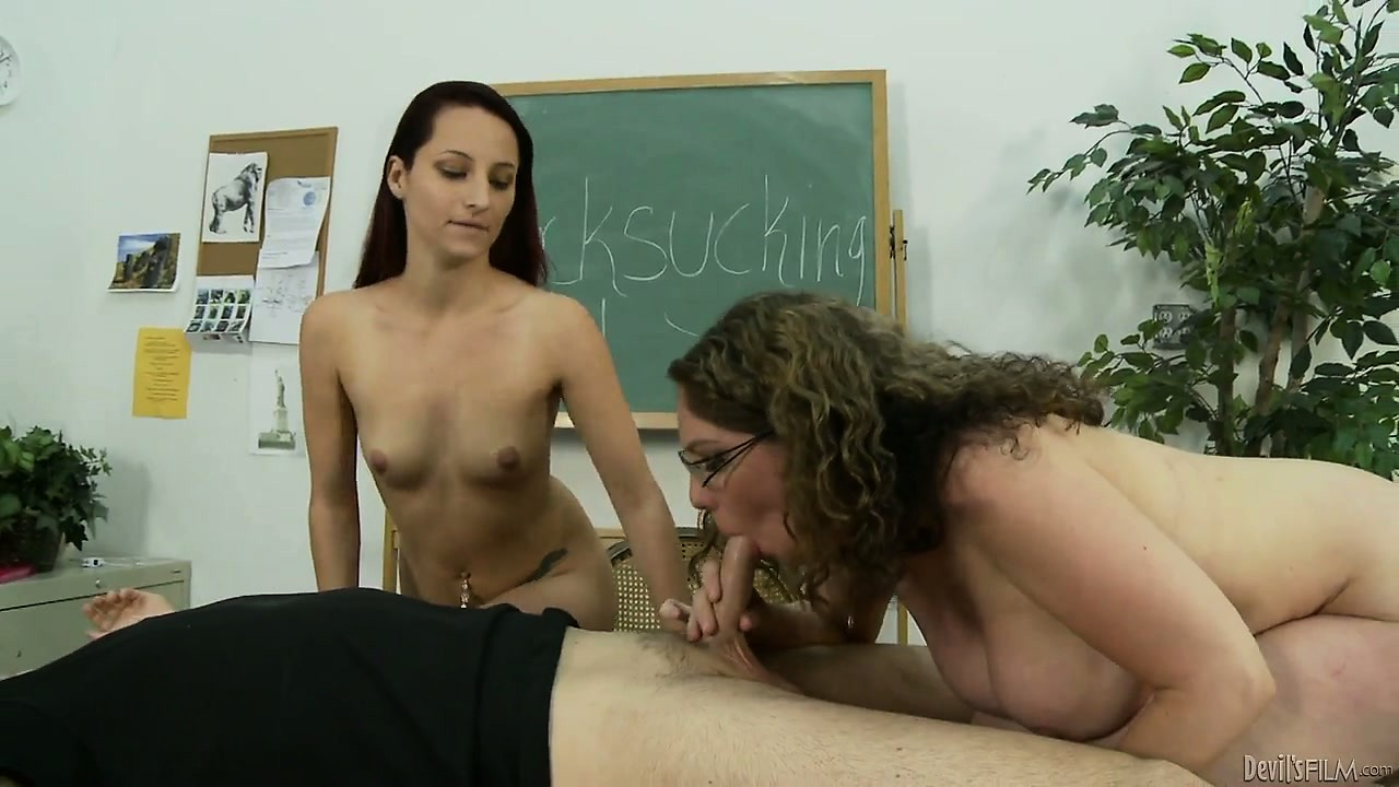 Porno Video of Busty Blonde Teacher Gives Blowjob 101 Lessons To Redheaded Teen