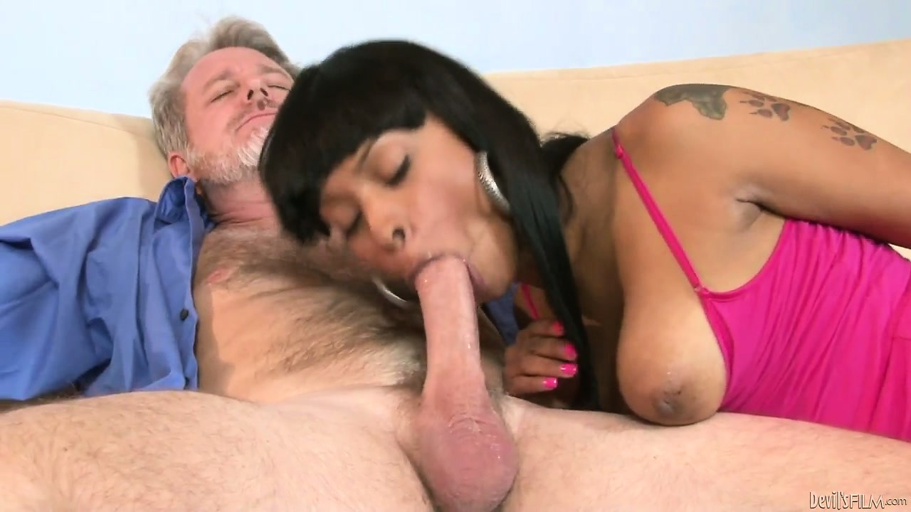 Porn Tube of He Cooks For Her... But What This Young Ebony Slut Wants Is White Cock