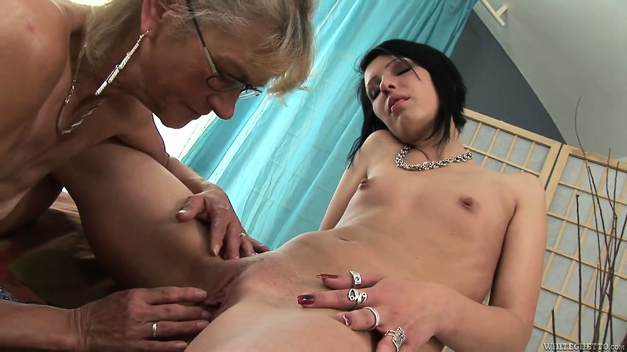 Porno Video of Granny Likes Fresh Meat And Gets This Young Brunette To Lick Her Snatch