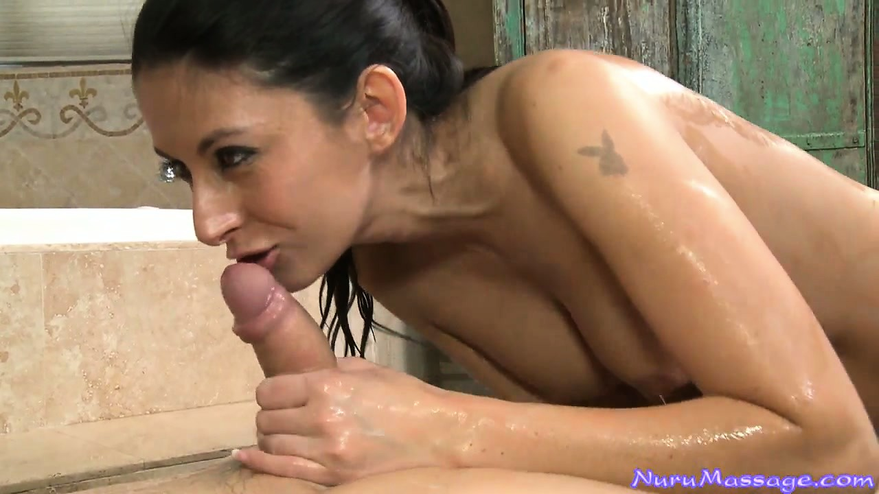 Porn Tube of She Gives Great Head And Awesome Oily Nuru Massage With Her Body