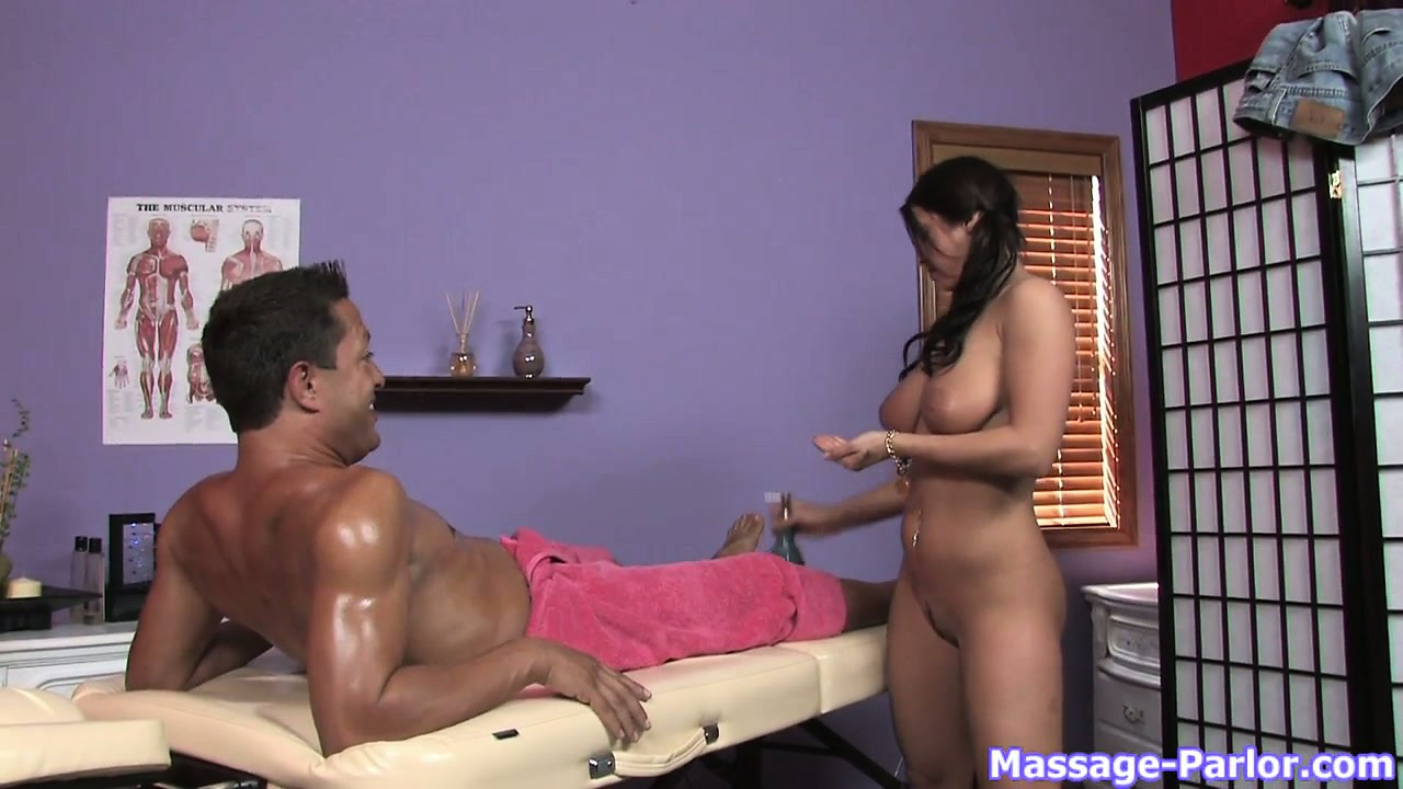 Sex Movie of Marvelous Brunette With Awesome Massage Skills Takes Advantage Of Her Task