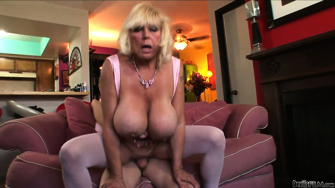 Porno Video of Grandma With Silicone Tits Banged Hard In Her Experienced Pussy