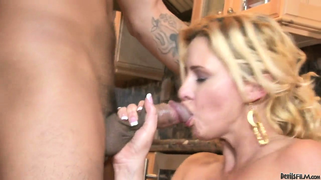 Porn Tube of Slutty Blonde Mother In Law Fucks Horny Asian Cock In The Kitchen