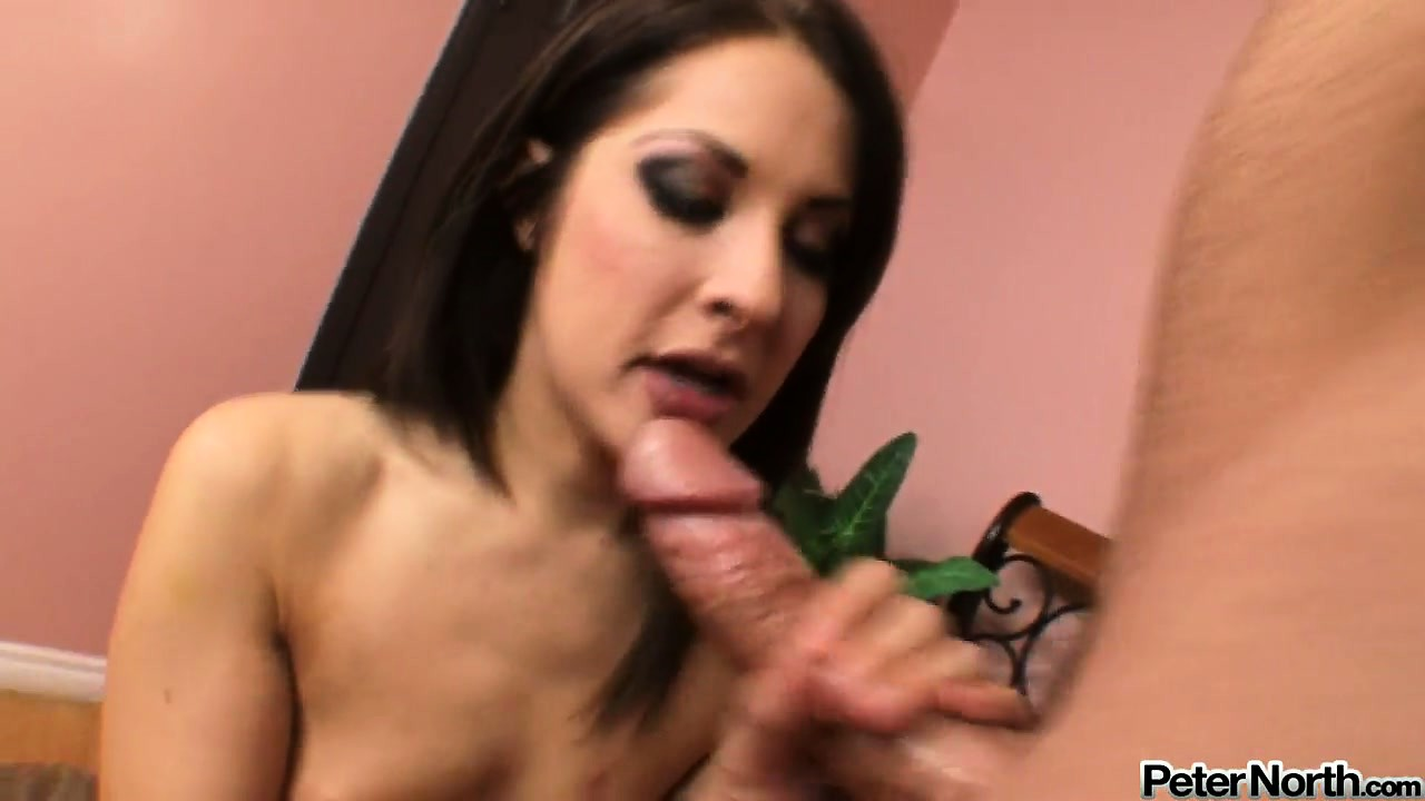 Porno Video of Brunette Teen Chelsie Rae Swallowing Cock In A Hot Pov Blowjob Video