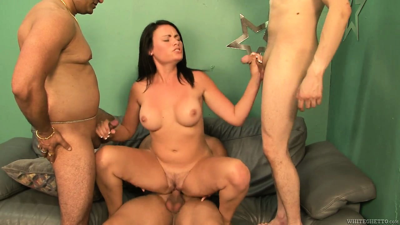 Porn Tube of Naughty Brunette Babysitter Gets Nailed By A Group Of Horny Guys