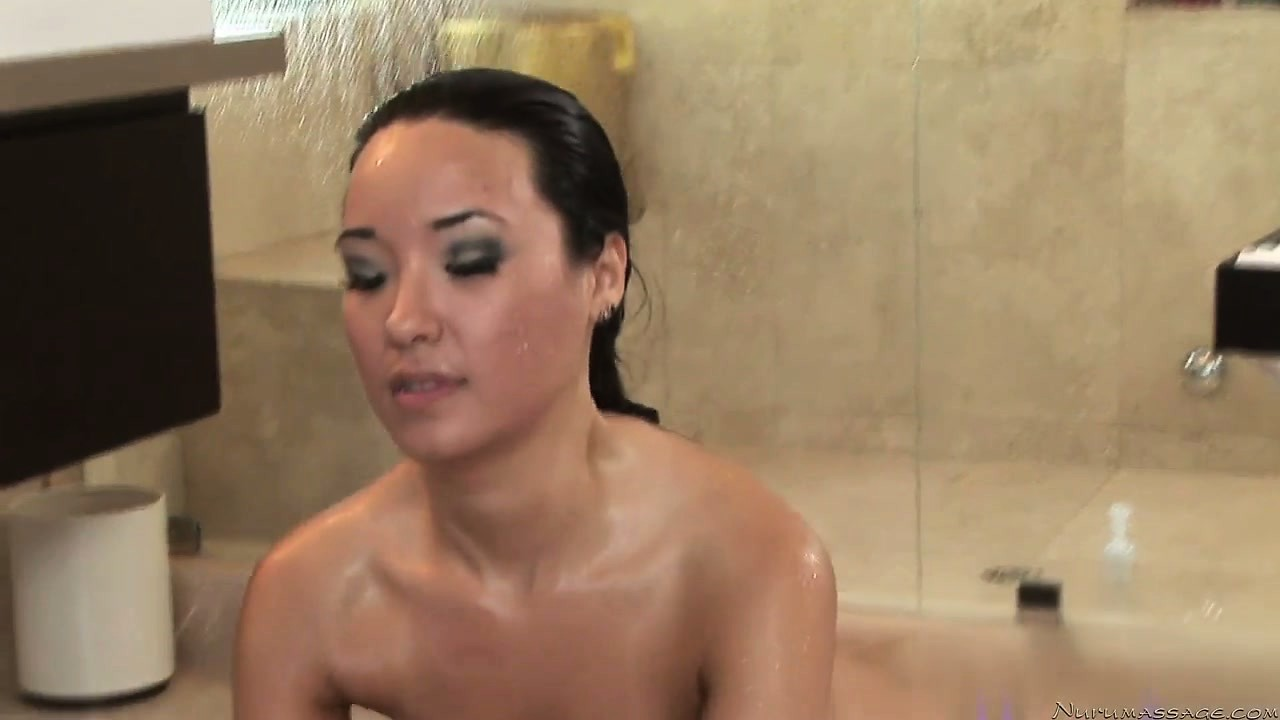 Porno Video of Cute Brunette Honey Treats Him To A Steamy Shower And Cock Massage
