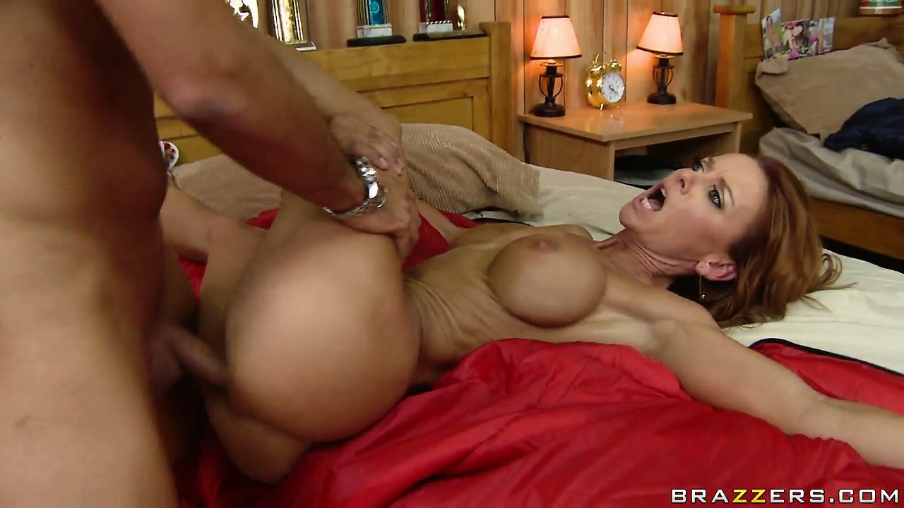 Porn Tube of Skinny Babe With Fake Tits Gets Bend Over The Edge Of The Bed