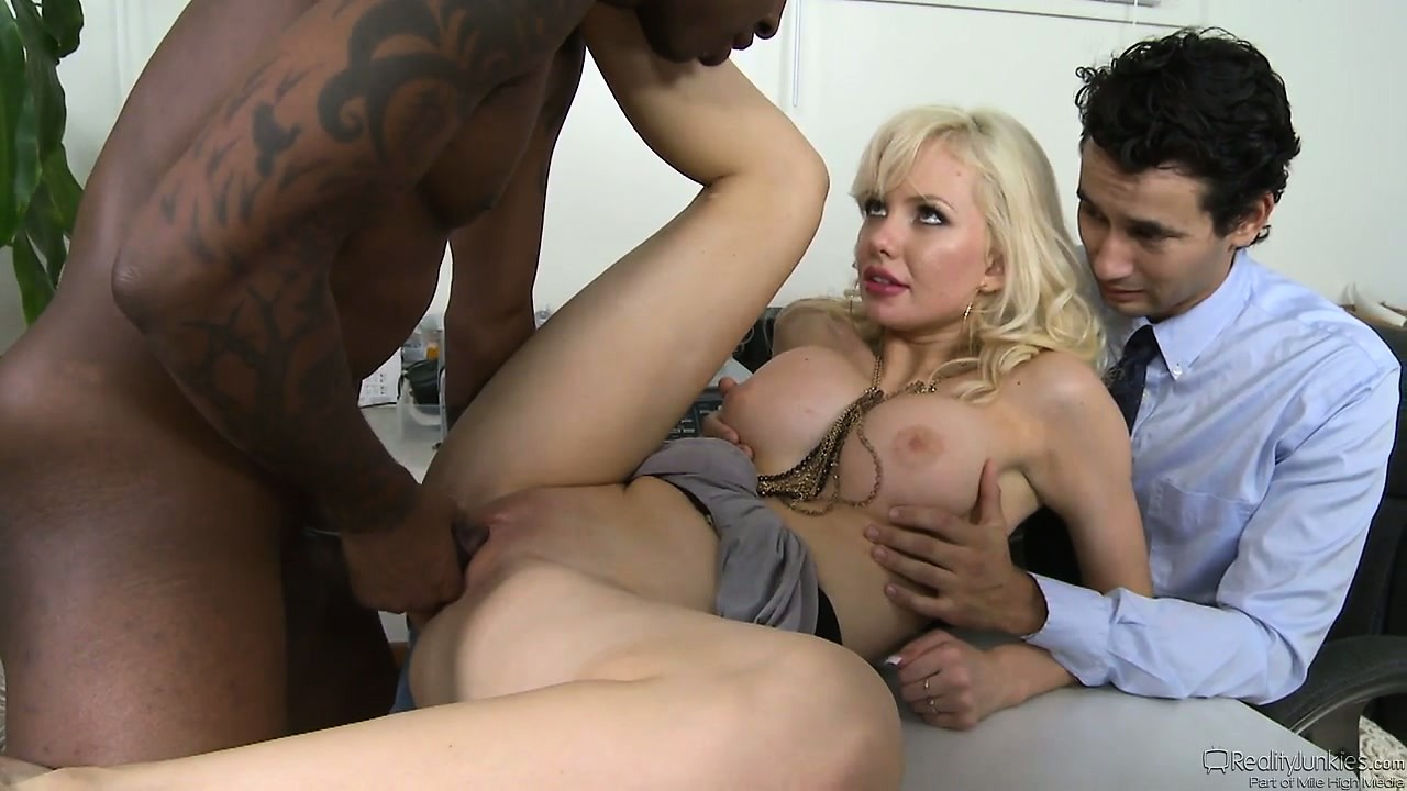 Porno Video of Naughty Blonde Wife Cuckolds Her Hubby With A Hung Black Dude