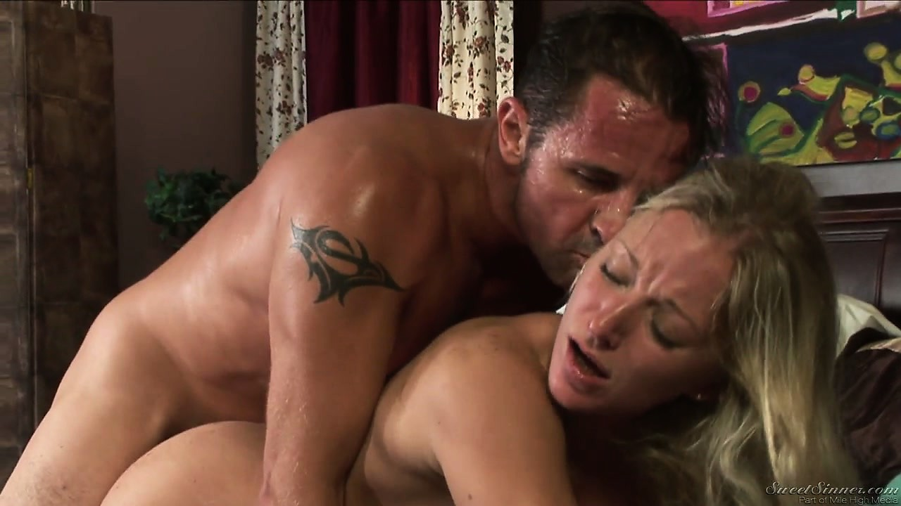 Porno Video of Petite Babe Gets Pinned Down Under Her Sweaty Lover's Hard Cock