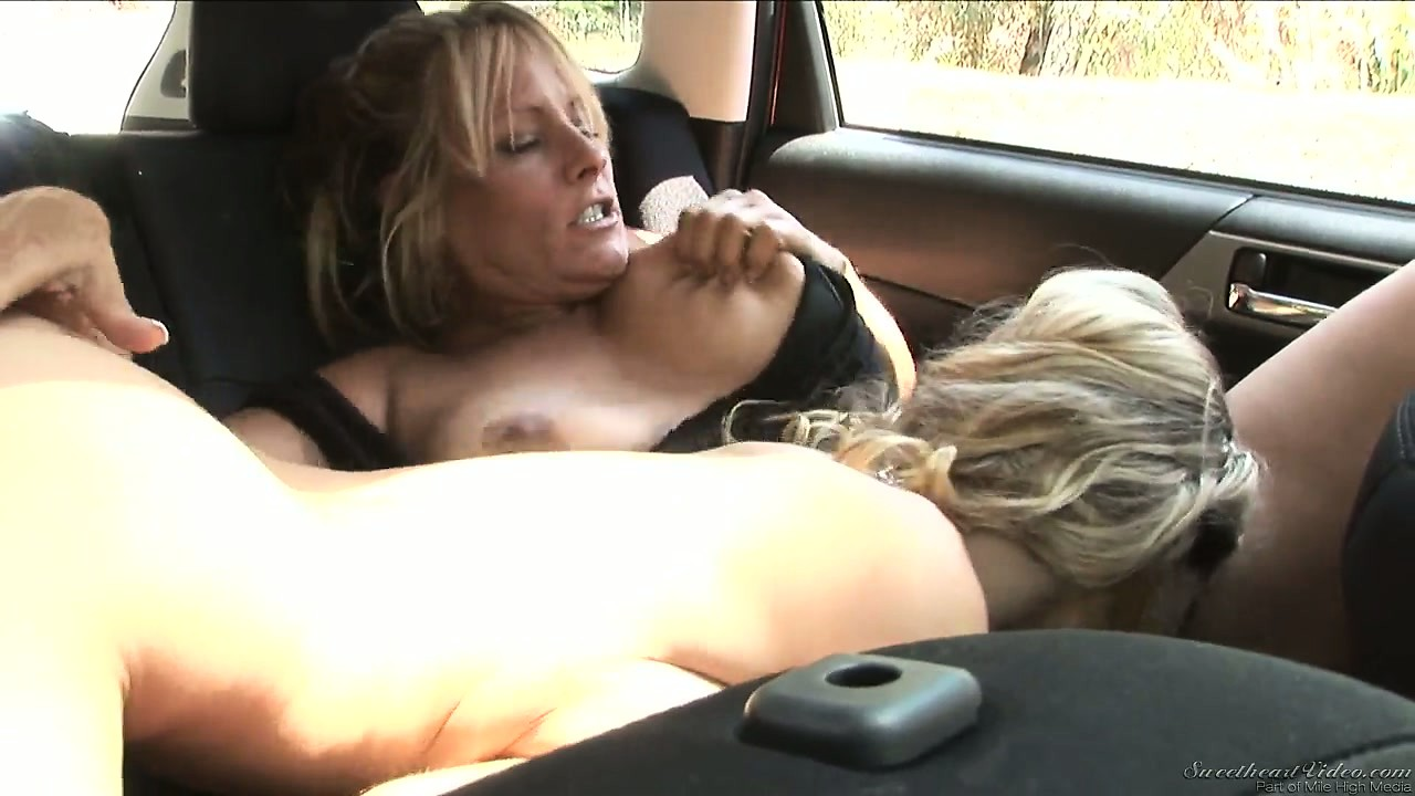Porno Video of Gorgeous Teen Gets A Ride From A Busty Cougar Who Likes Girls