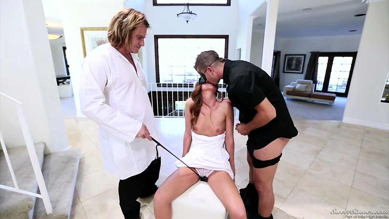 Porn Tube of Masked Strangers And Their Boss Playing With A Blindfolded Hottie
