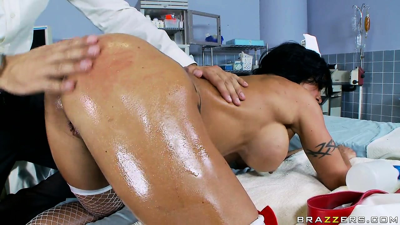Porno Video of The Naughty Nurse's Booty Gets Spanked And Oiled Up By The Horny Doctor