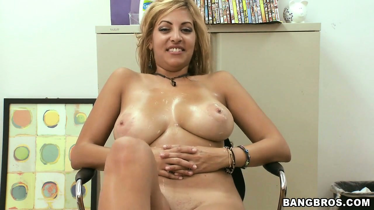 Porno Video of Busty Blonde Latina Milf Gets Drilled Doggy Style And Gives Titty Job For Cum