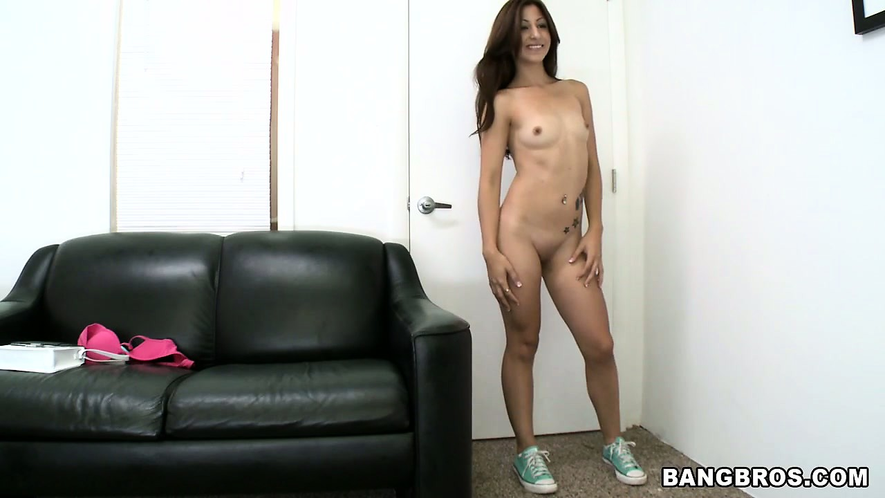 Porn Tube of This Cute Brunette Has A Sexy Slender Body, A Spicy Ass And Tiny Tits