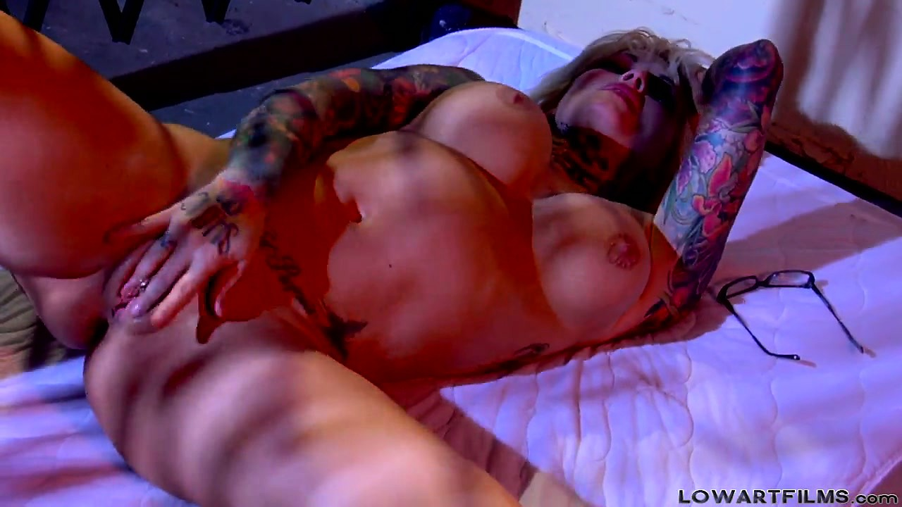 Porno Video of Busty Blonde Babe With Nice Hooters Toys And Rubs Her Slick Slit