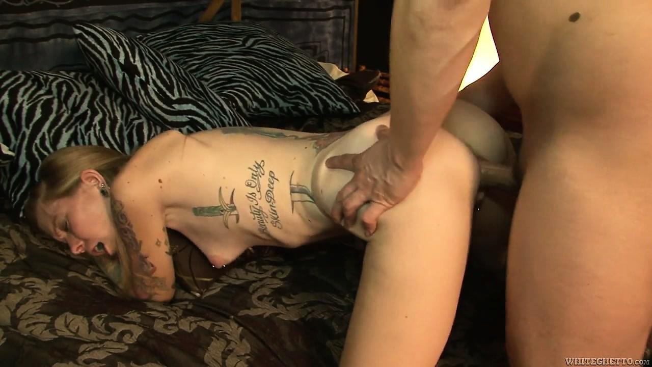 Porno Video of Tattooed Mom Blows His Rod And Gets Her Cunt Banged Hard Doggy Style