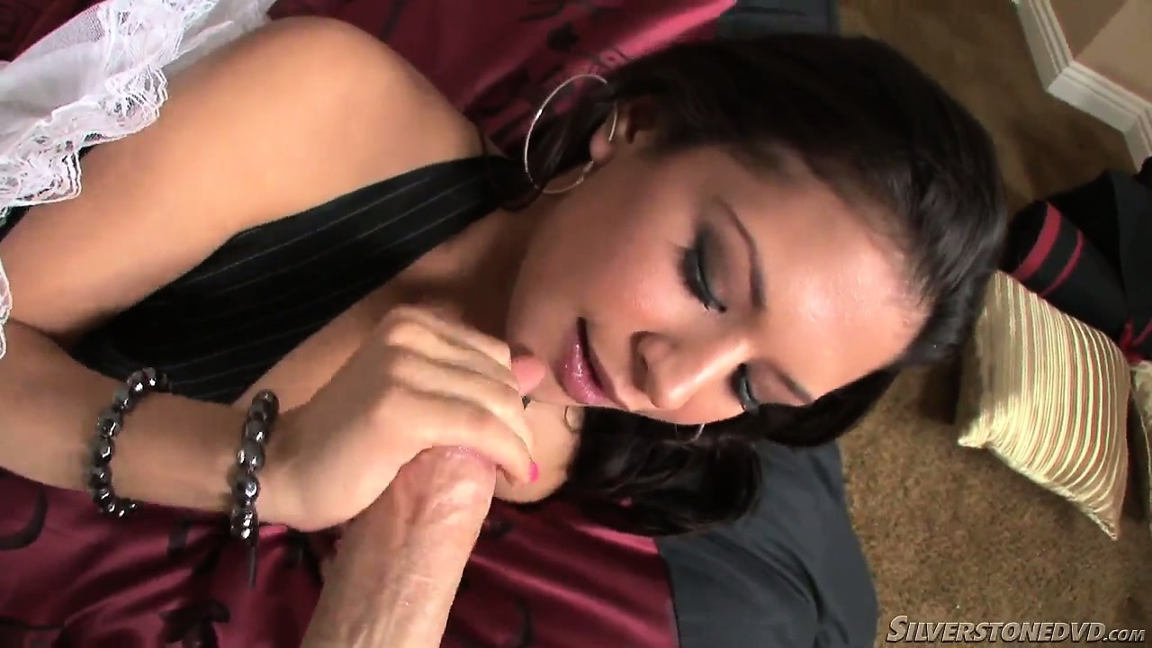 Porno Video of Young Brunette Teen With A Nice Tight Pussy Fingering Herself And Sucking Penis