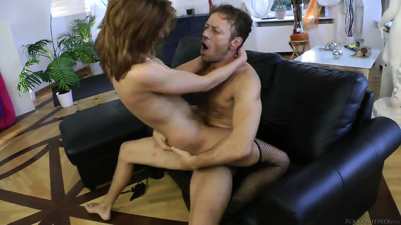 Porn Tube of She Slides That Big Dick In Her Tight Ass And Rides It With Sheer Excitement