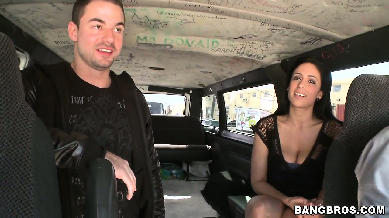 Porno Video of After Flashing Her Tits, This Busty Brunette Gets Inside A Van, Waiting For Something More To Happen