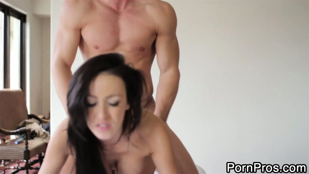 Porno Video of Breanne Benson Takes It From Behind On Top Of A Massage Table