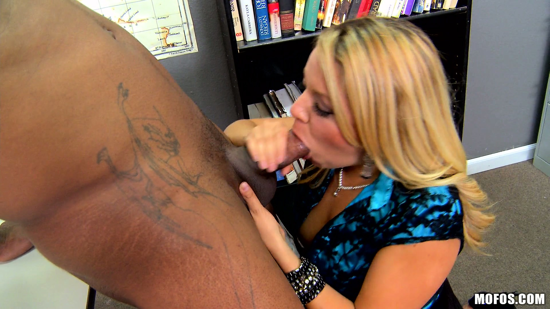 Porno Video of Blonde Business Teacher Teaches Something More Than Numbers, Good Cock Work