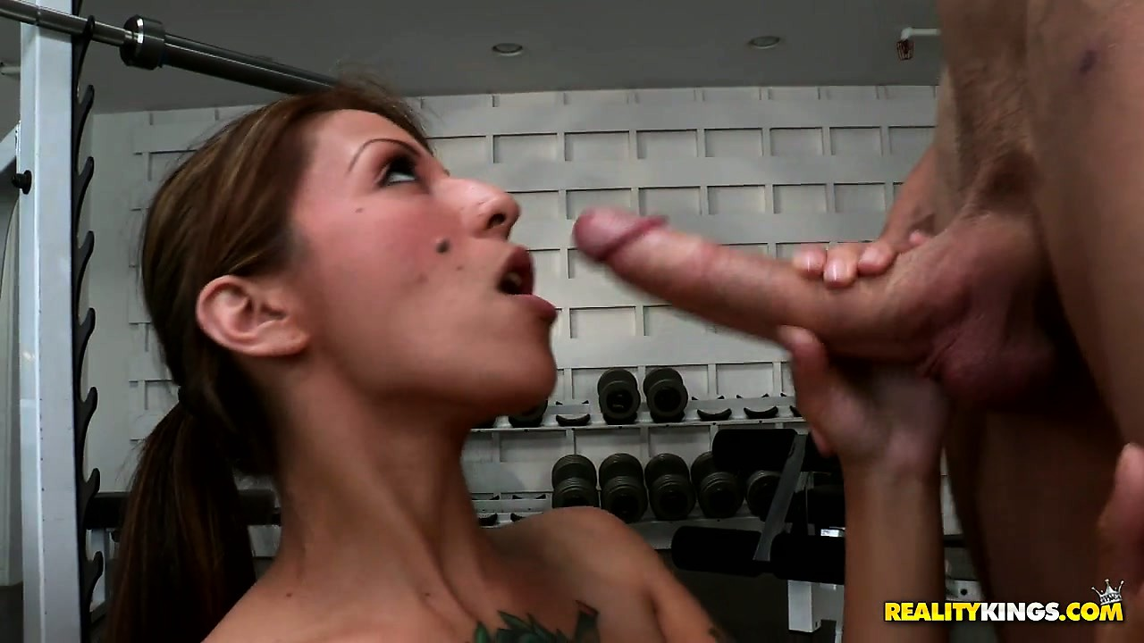 Porno Video of Skinny Latina Slut Gets Down On Her Knees To Service A Big Dick