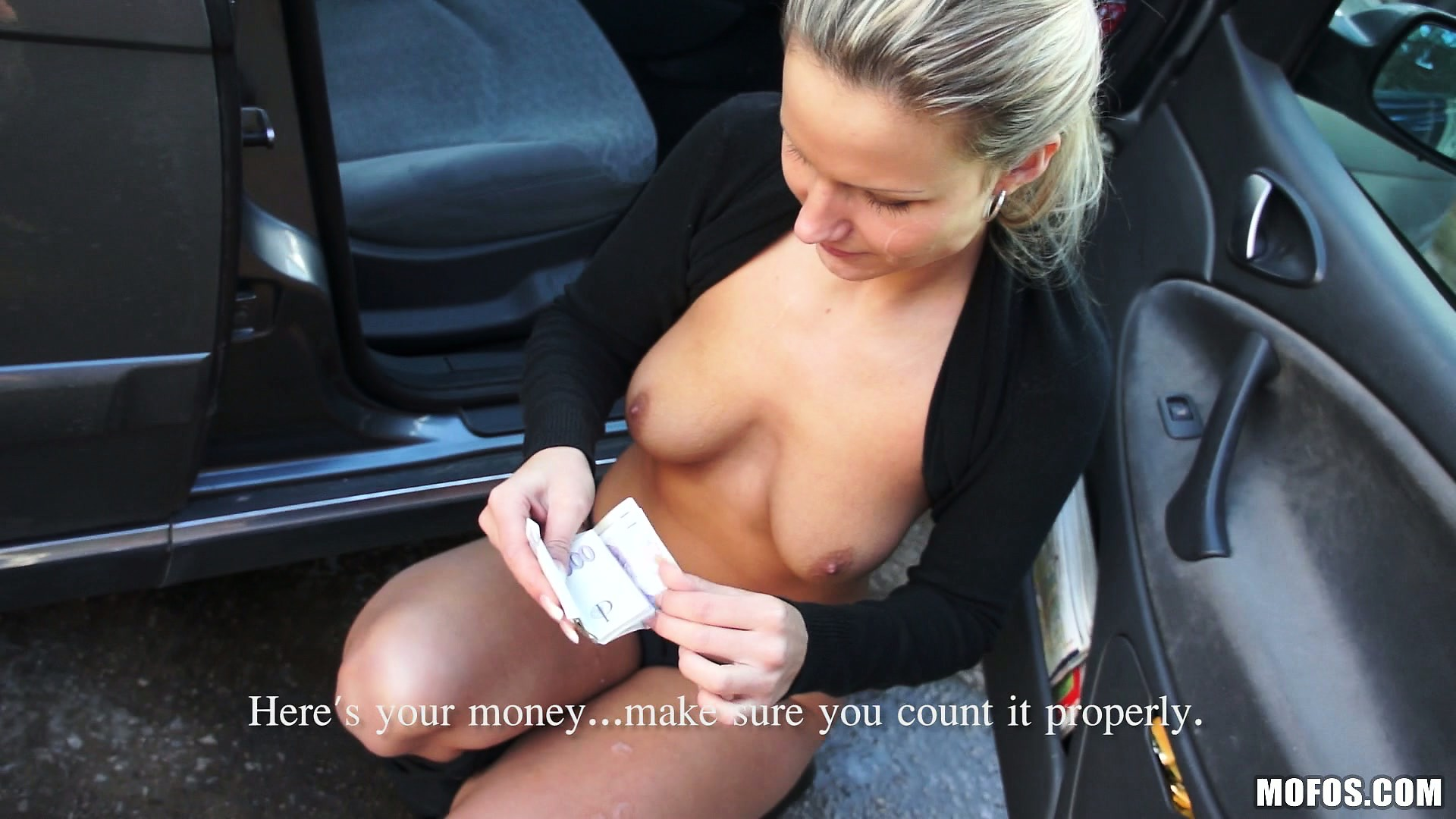 Porno Video of Blonde Euro Chick Holly Makes A Fist Full Of Cash For Having Sex
