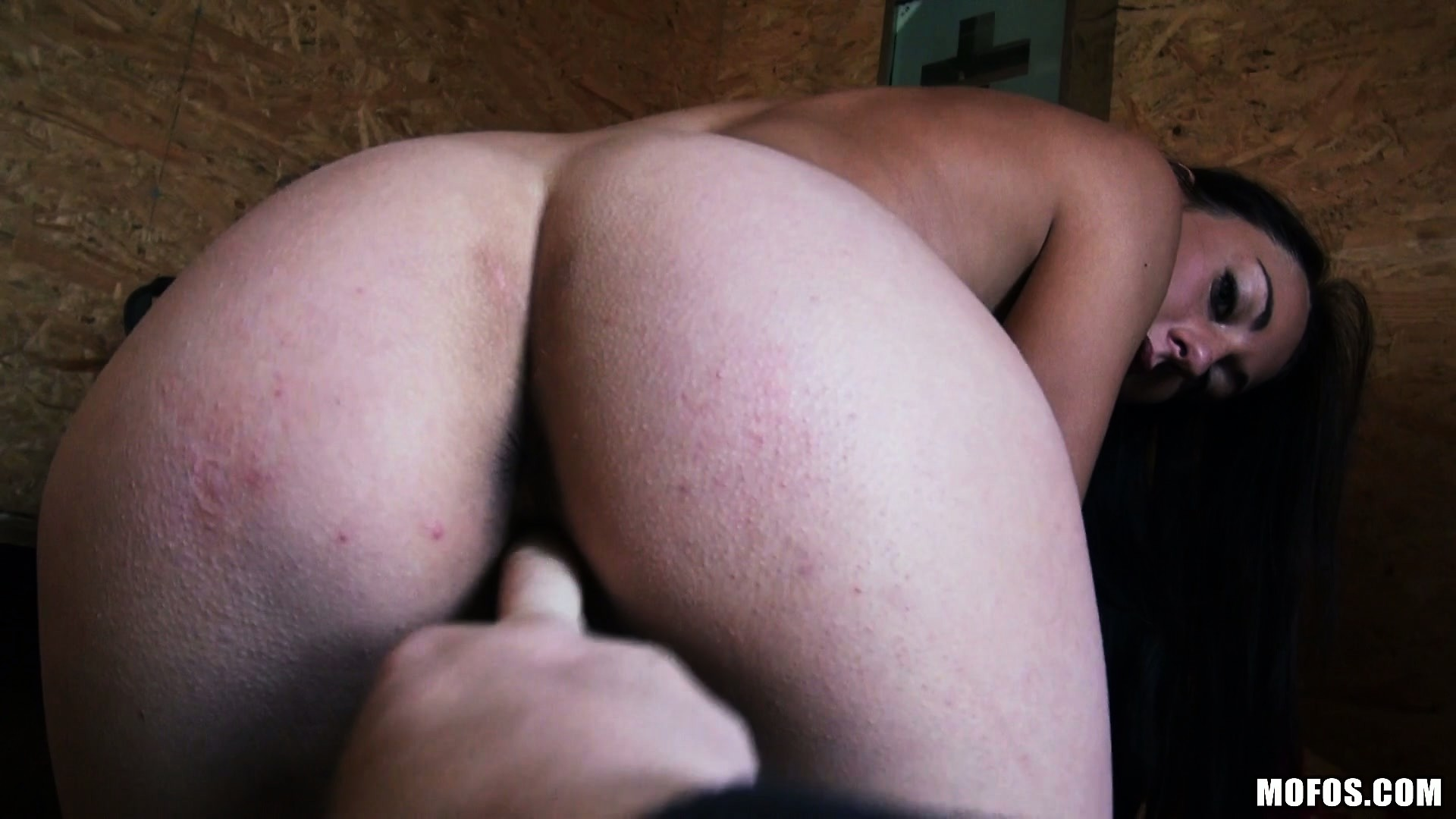 Porno Video of She Drops Her Clothes, Revealing Her Superb Ass, Tiny Tits And Juicy Peach