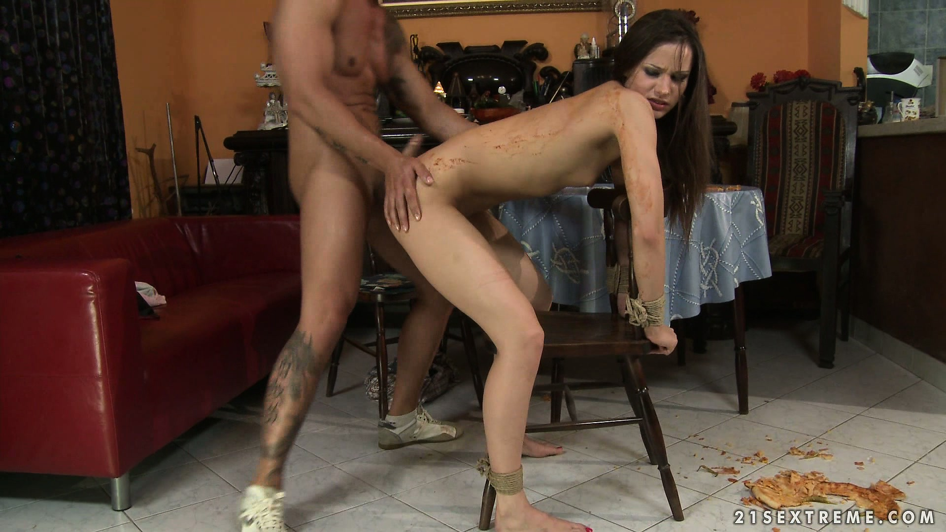 Porno Video of Dirty Brunette Gets Fucked Hard While She´s Bound To A Chair
